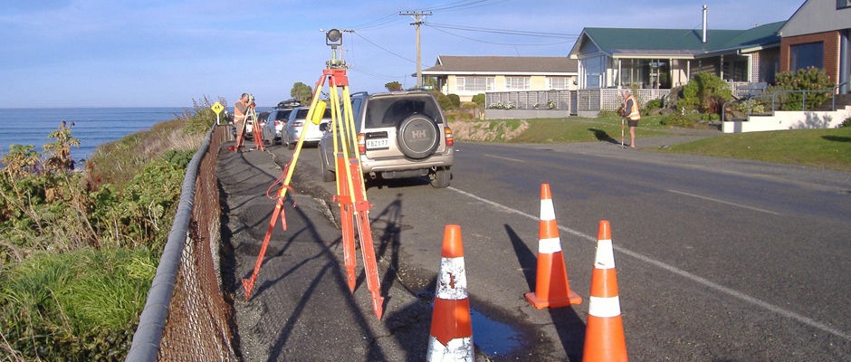 Surveyor working